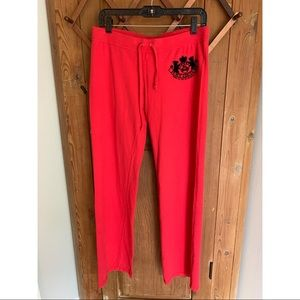 Juicy Couture red wide leg sweatpants
